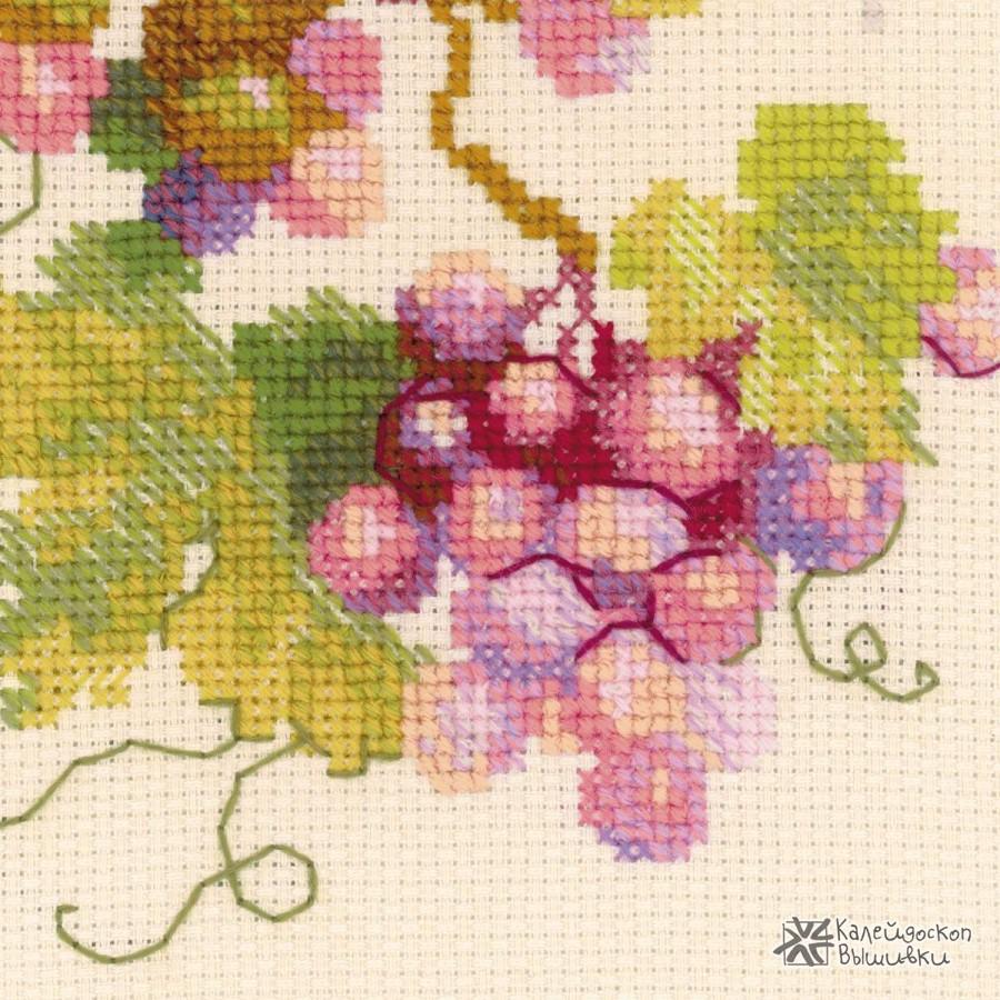 Набор для вышивки крестом виноград 472