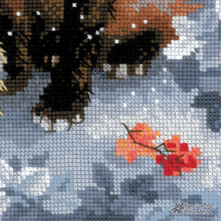 Лисичка вышивка риолис 13