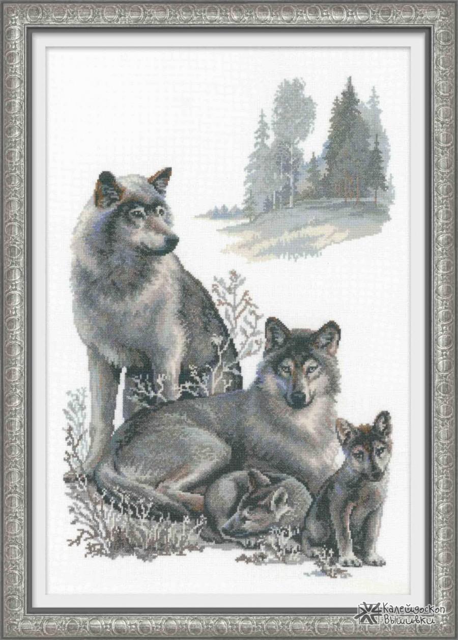 Волки вышивка крестом приметы